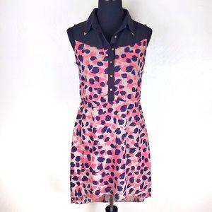 INDULGE  Sleeveless Hi-Low Sheer Dress